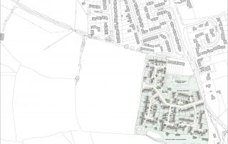 Site layout for new homes in north devon by andrew lethbridge associates, award winning south devon architects