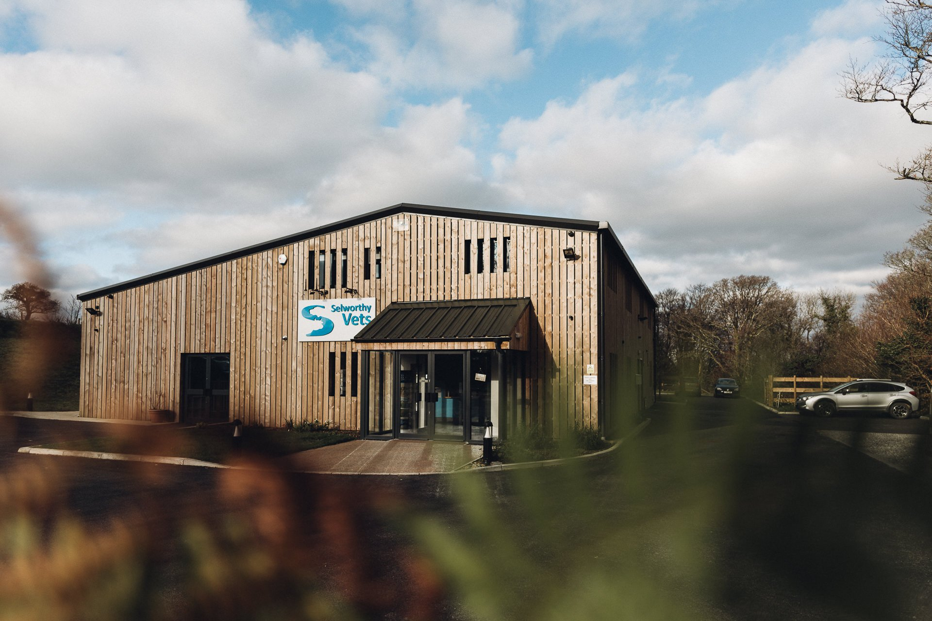 timber clad veterinary hospital won a gold medal in the 2020 devon building control awards